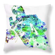 Legendary Louis Armstrong Watercolor  Throw Pillow