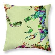Legendary Marlon Brando Watercolor Throw Pillow