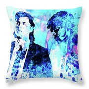 Legendary Pulp Fiction Watercolor Throw Pillow
