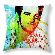 Legendary Quentin Watercolor I Throw Pillow