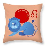 Leo - Lion Throw Pillow by Ariadna De Raadt