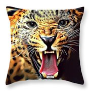 Leopard 2 Throw Pillow