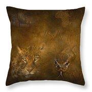 Leopards No 01 Throw Pillow