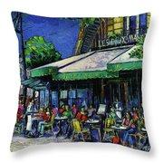 Les Deux Magots Paris Throw Pillow