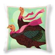 Les Foulards De Cambridge Throw Pillow