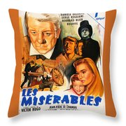 Les Miserables 1958 French Movie Classic Throw Pillow