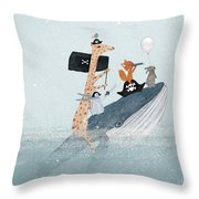 Lets Play Pirates Throw Pillow