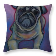 Lets Play Pug  Throw Pillow