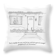 Lets Simplify This Year Throw Pillow