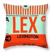 Lex Lexington Luggage Tag I Throw Pillow