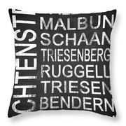 Liechtenstein 1 Throw Pillow