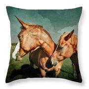 Life Partners Throw Pillow