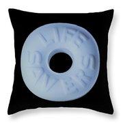 Life Savers Cool Mint Throw Pillow