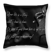 Life...... She Wrote Throw Pillow