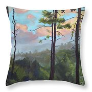 Lifting My Soul At Pink Knob - In Elliay Throw Pillow