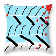 Light Blue Red  Throw Pillow