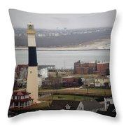 Lighthouse - Atlantic City Throw Pillow