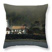 Lighthouse - Port Wilson Throw Pillow
