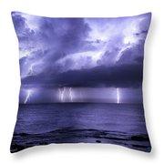 Lighting Sea Throw Pillow
