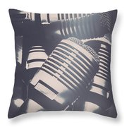 Lights Of Nightlife Throw Pillow
