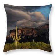 Light Play On The Superstitions  Throw Pillow