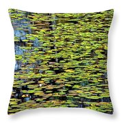 Lilly Pond Painting Throw Pillow