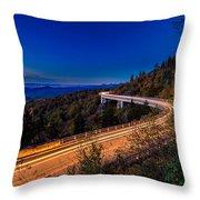 Linn Cove Viaduct - Blue Ridge Parkway Throw Pillow