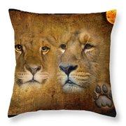 Lions No 02 Throw Pillow