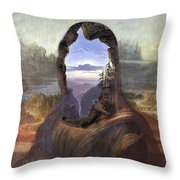 Lisa With A View Throw Pillow