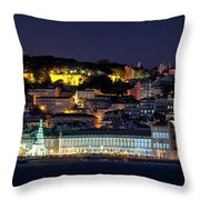 Lisbon In Christmas Time Throw Pillow