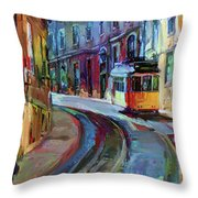 Lisbon Tram 6 Throw Pillow