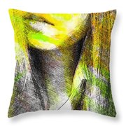 Little China Girl Throw Pillow