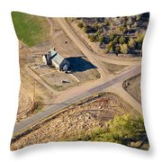 Little Church Throw Pillow by Carl Young