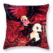 Little Glass Pandas 33 Throw Pillow