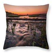 Little Island Creek Throw Pillow
