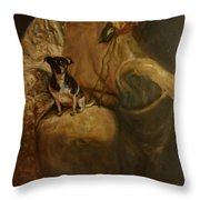 Little Miss Margo Throw Pillow by J Reynolds Dail