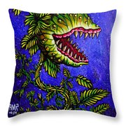Little Shop Of Horrors Throw Pillow
