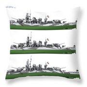 Littorio Class Battleships Port Side Throw Pillow