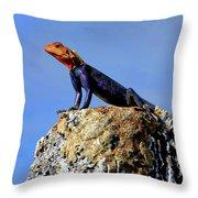 Lizard Lips Throw Pillow