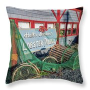 Lobster Pond Restaurant In Halls Harbour Ns Throw Pillow