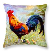 Local Chickens Throw Pillow