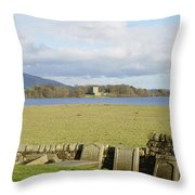 Loch Leven Castle From Kinross Throw Pillow