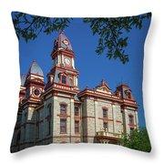 Lockhart Courthouse Throw Pillow