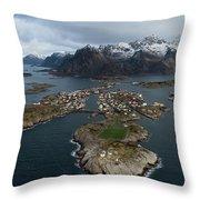 Lofoten Henningsvaer Throw Pillow