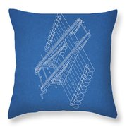 Log Loader Patent Throw Pillow