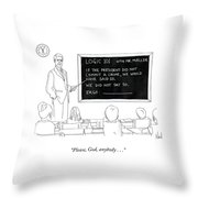 Logic 101 Throw Pillow