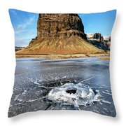 Lomagnupur Mountain Iceland Throw Pillow
