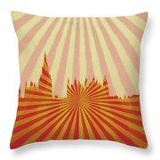 London Pop Art Throw Pillow