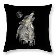 Lone Wolf Throw Pillow by Mark Taylor