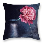 Lonely Peony Throw Pillow